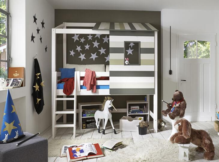 Hedendaags Halfhoogslaper + boomhut Merlin kopen | 2.500 m² showroom | Kidsroom RD-77