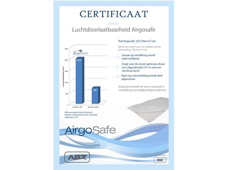Certificaat Airgrosafe topper