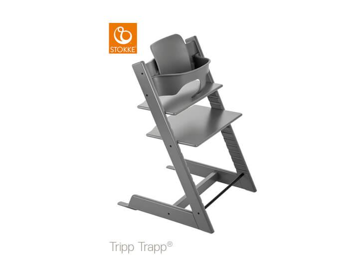 Stokke® Tripp Trapp® Storm grey met babyset
