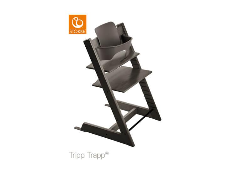 Stokke® Tripp Trapp® Hazy Grey met babyset