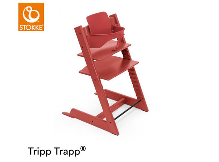 Stokke® Tripp Trapp® rood met babyset