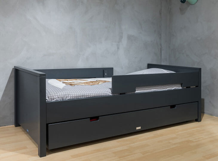 Bopita Jonne kinderbed Deep Grey met optioneel een bedlade