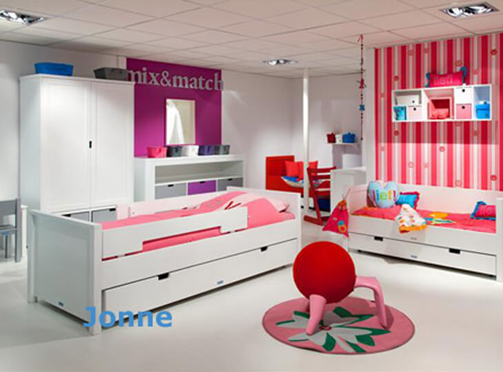Bopita Jonne kinderbed Wit met optioneel een bedlade