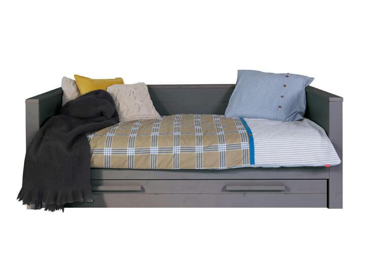 Dennis bedbank Steel grey (90*200 cm)