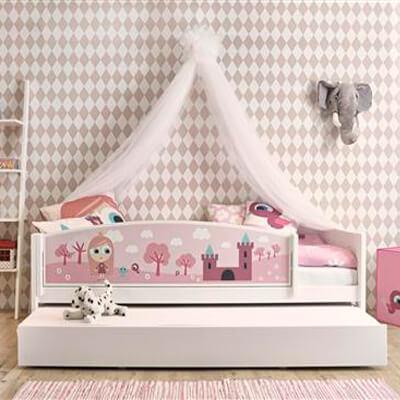 Lifetime bedbank met front Thema Prinsess