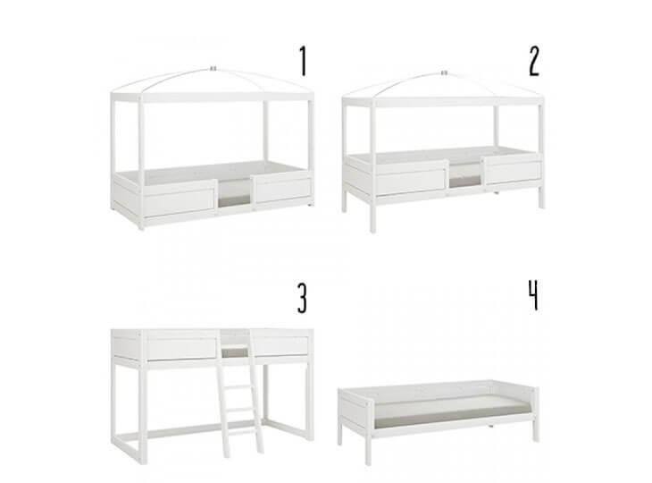 Lifetime 4 in 1 bed Combinatie mogelijkheden