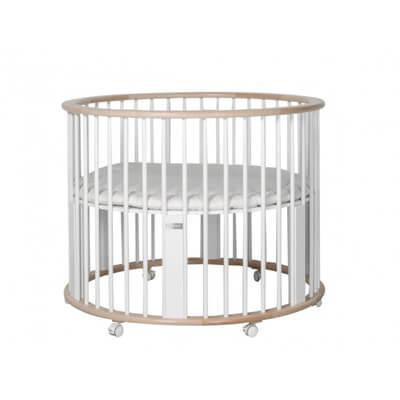 Bopita Babybox Rondo wit/beuken