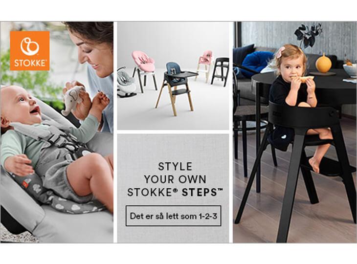 Stokke® Steps™ Black poten en Black zitje