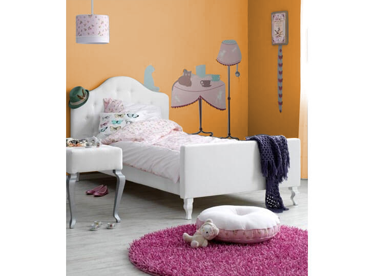 Coming kids gestoffeerd bed Yara Oranje