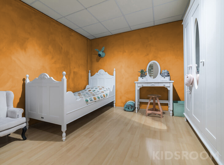 Romantic kinderkamer Oranje