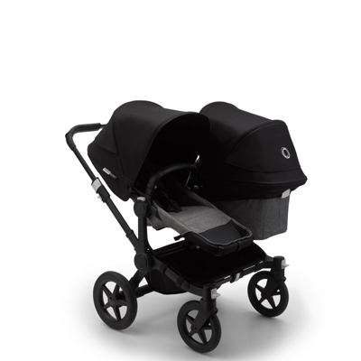 Bugaboo Donkey³ Duo black Grey melange/Black