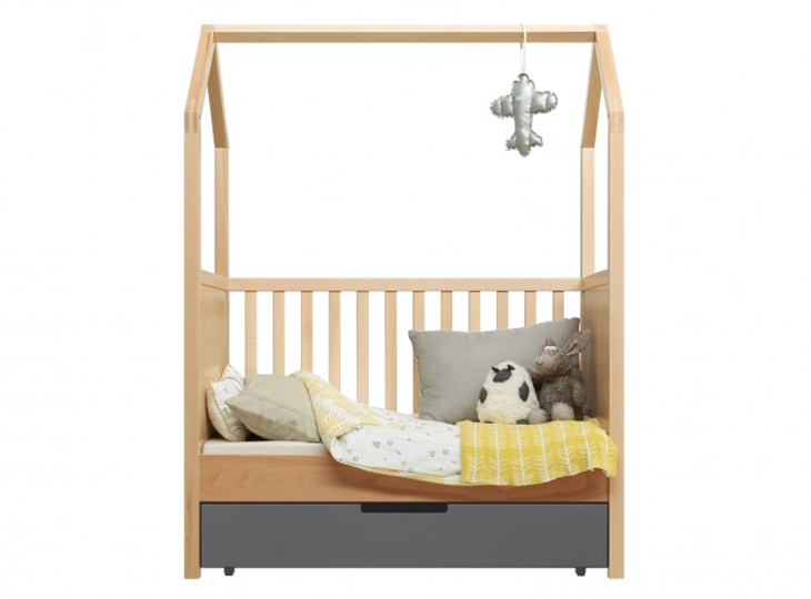 Bopita Bed My First House naturel + lade