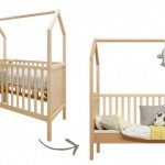 Bopita Bed My First House naturel
