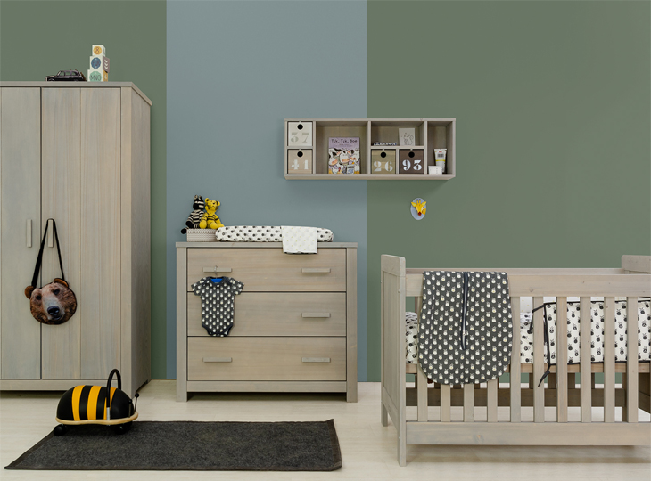 Basic wood Babykamer Gravel wasch