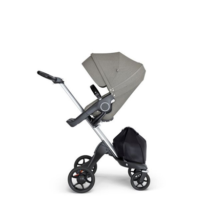 Stokke® Xplory® Alu Black Brushed Grey Handgreep