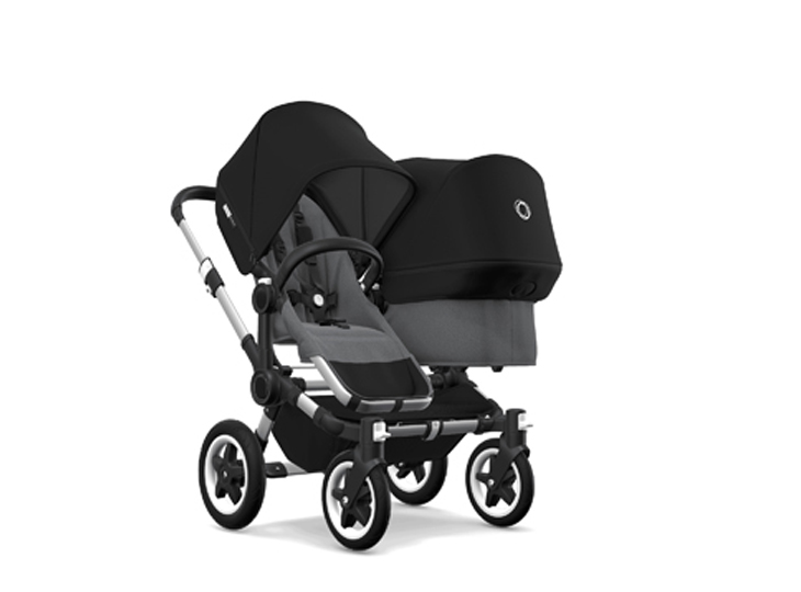 Bugaboo Donkey² Duo Grey melange/Black