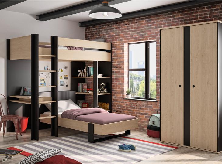 Tienerkamer Duplex met duo slaper