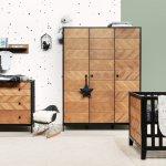 Bopita Job Babykamer vintage honey met 3-deurkast