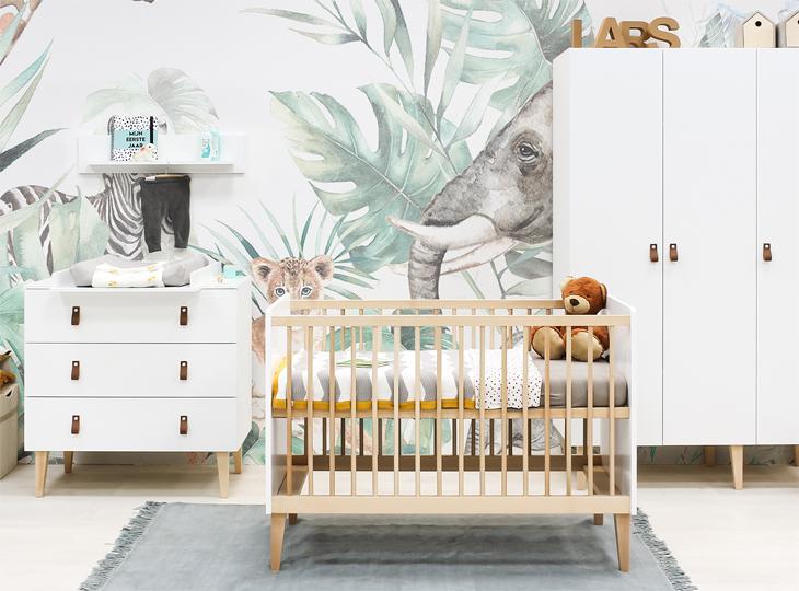 Indy Babykamer mer 3-deurkast