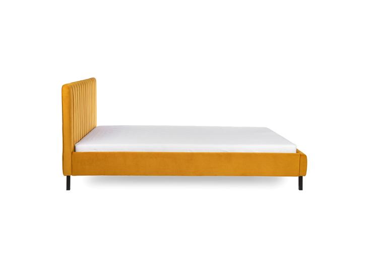 Gestoffeerd Bed Luno Yellow