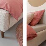 Juna Gestoffeerd bed details