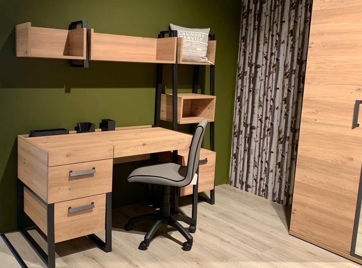 Irony Bureau met lade en boekenkast