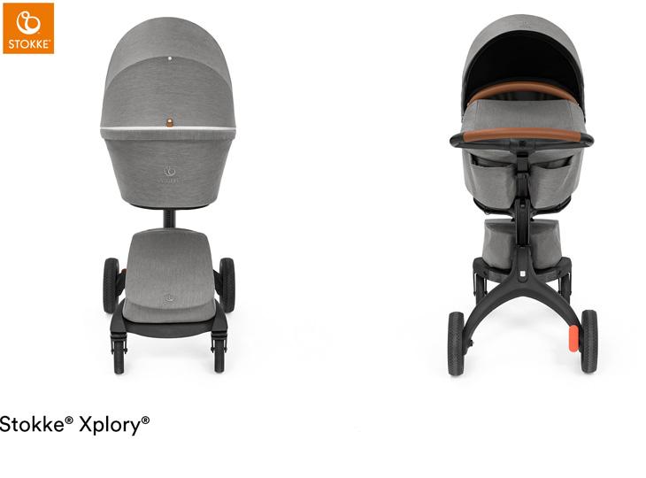 Stokke® Xplory X Modern Grey met reiswieg