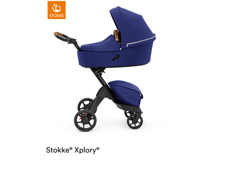 Stokke® Xplory X Royal Blue met reiswieg