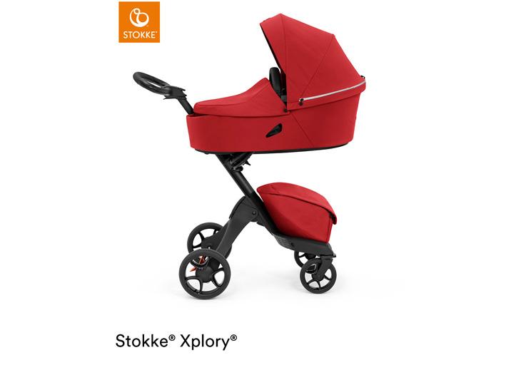 Stokke® Xplory X Ruby Red met reiswieg