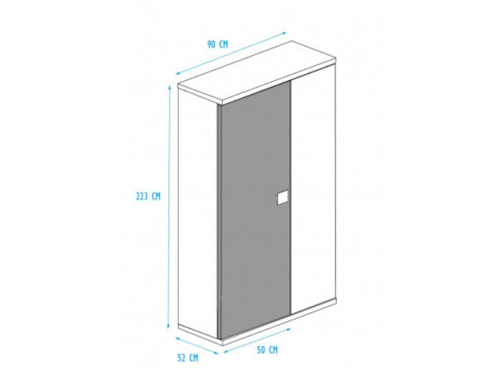 Afmetingen Kast 2-deur