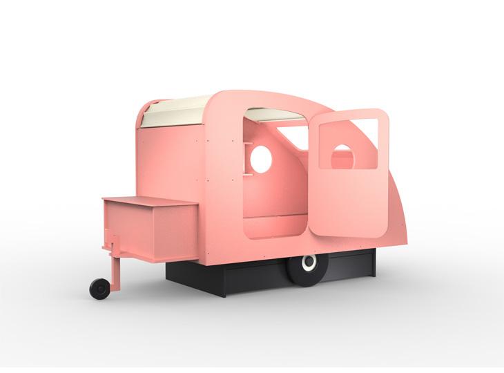 Caravanbed Roze Mathy by Bols